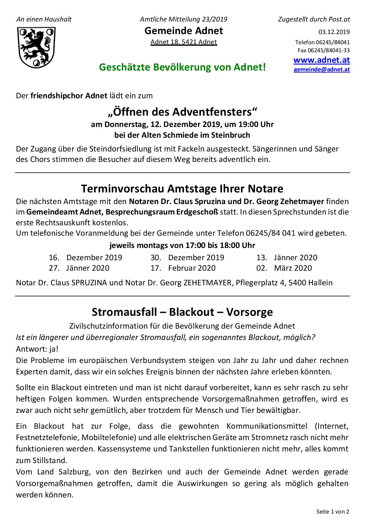 carolinavolksfolks.com - Brgerservice - Jobs - Gemeinde Adnet